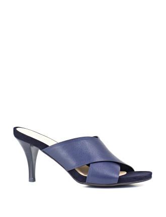 Brea Crossover Mid Heel Slide