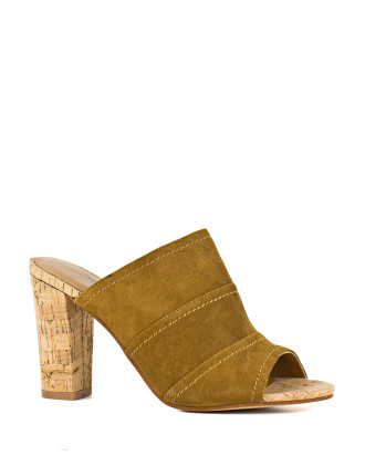 Jude High Block Heel Mule