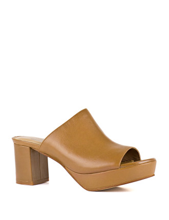 Hydro Platform Mule With Block Heel