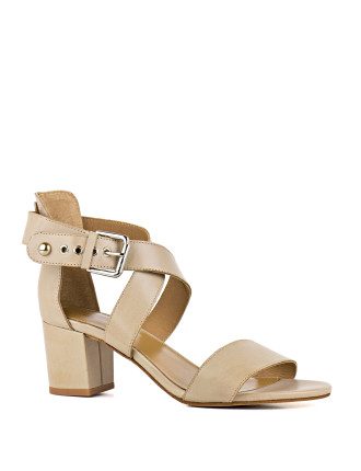 Latina Crossover Block Heeled Sandal