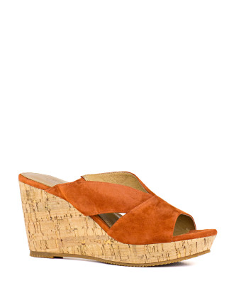 Lefonda Cork Wedge Sandal