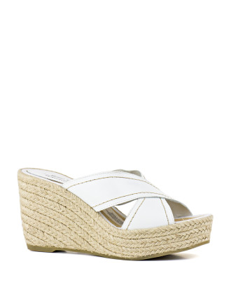 Lili Crossover Espadrille Wedge