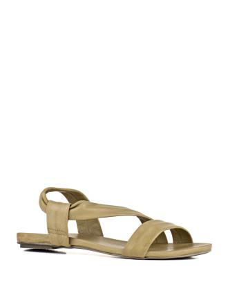 Maritza Flat Crossover Sandal