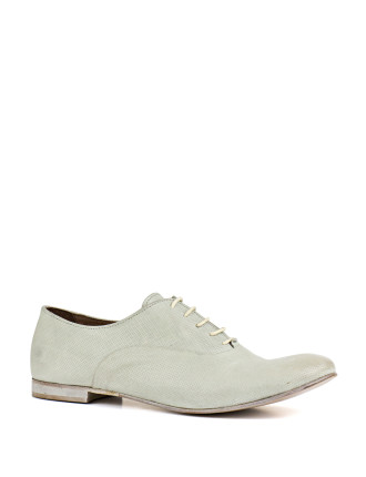 Pelican Perforated Lace Up Flat