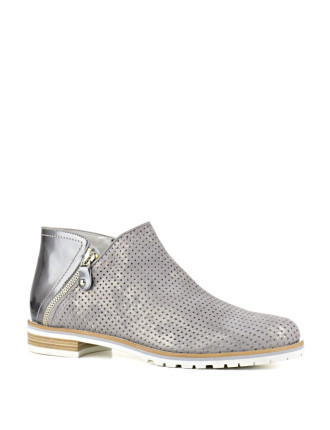 Pyramid Textured Ankle Bootie