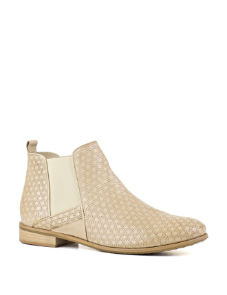 Zinnia Perforated Chelsea Boot