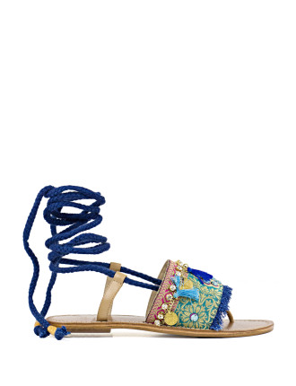 Tigger Embellished Lace-Up Sandal