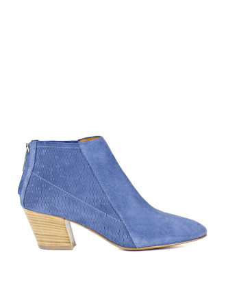 Arrow Back Zip Ankle Boot