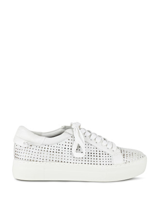 Audrina Perforated Low-Rise Sneaker