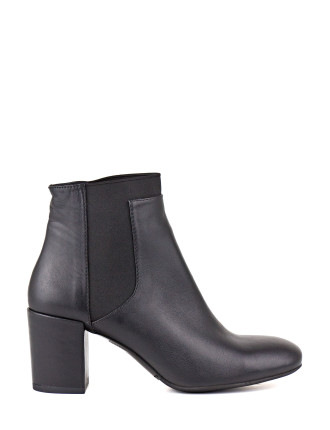 Wheat Mid Heel Ankle Bootie