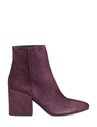 Wines  Block Heel Ankle Boot