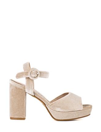 Illona Velvet Platform Sandal