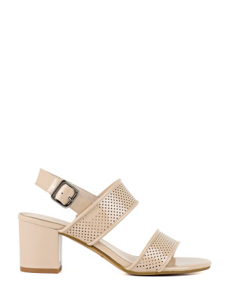 Leila Perforated Two Strap Sandal
