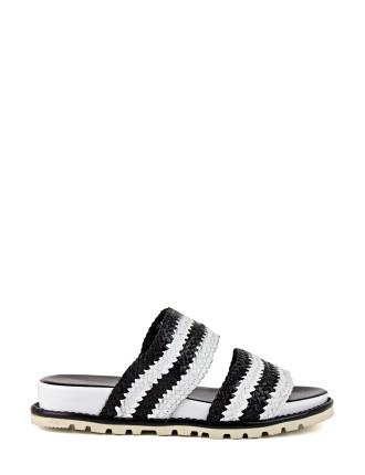 Rita Two Strap Slide Sandal
