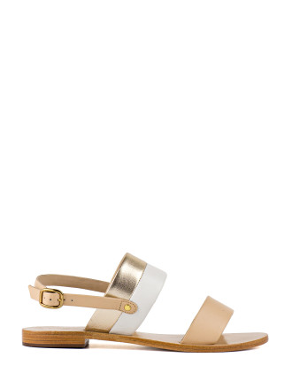 Sarah Two Strap Flat Sandal