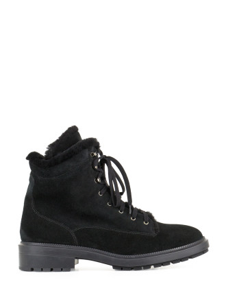 LENORE SHEARLING LINED COMBAT BOOT