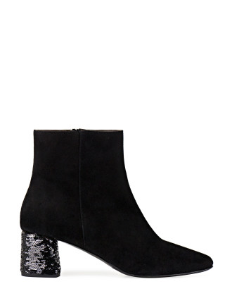 VIALIS SEQUINED HEEL ANKLE BOOT