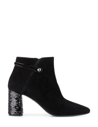 VERAIN SEQUINED HEEL ANKLE BOOT