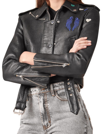 Bicoeur Leather Jacket