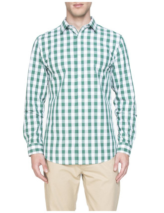 Green Ginham Check Shirt