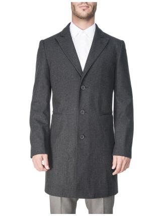 Textured Wool Blend Topcoat