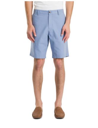 Flecked Cotton Shorts
