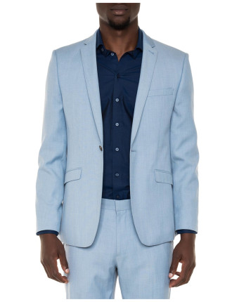 Textured Sky Blue Suit Jacket