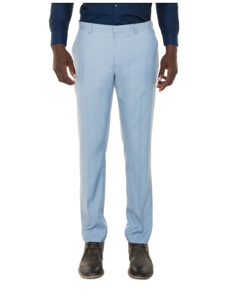 Textured Sky Blue Suit Trousers