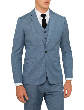 Tonal Check Suit Jacket