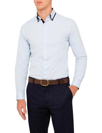 Dbl Collar Cotton Stretch