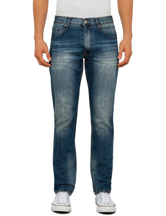 Medium Wash Straight Jeans