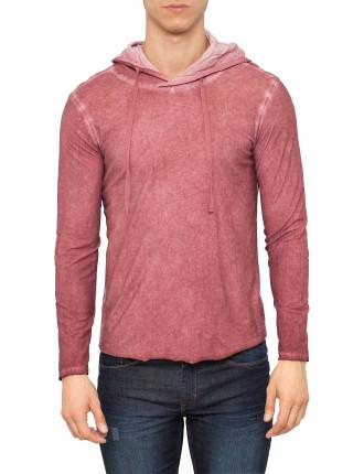 Slub Overdye Hooded T-Shirt