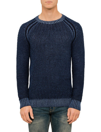 AW16 RIBBED CREW JUMPER