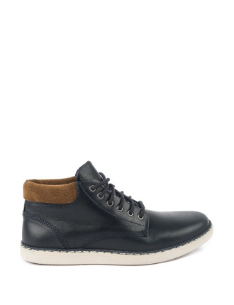 Leather Cuff Lace Up Shoes