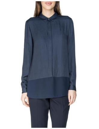 Long Sleeve Dipped Hem Blouse