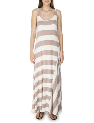 Striped Viscose Maxi Dress
