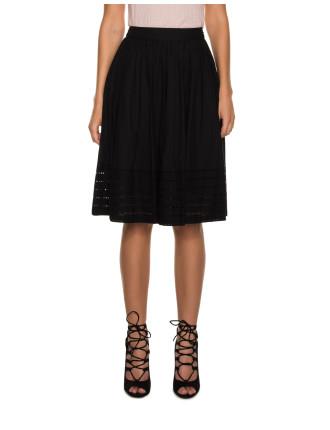 Cotton Broderie Skirt