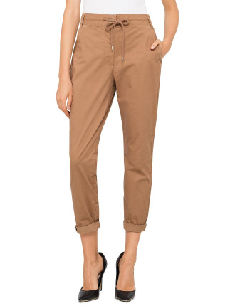 Stretch Cotton Chino Joggers