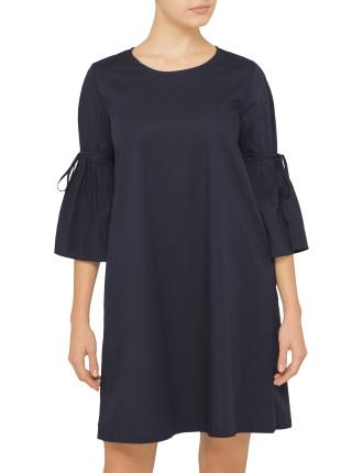 Flared Sleeve Dress