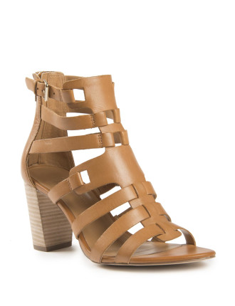 Gladiator Block Heel Sandal