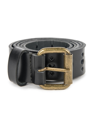 Cut Out Leather Belt