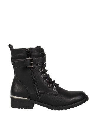 Lace Up Military Boot