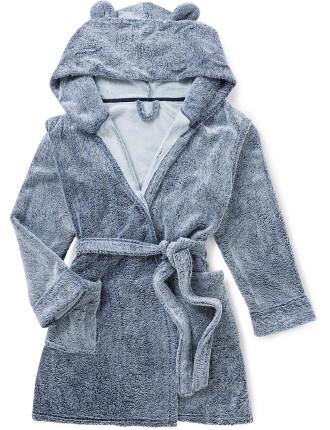 Hooded Ears Fleece Gown