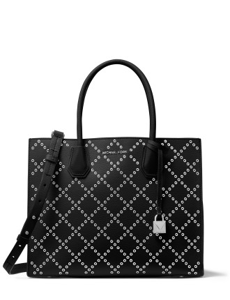MERCER GROMMETED LEATHER TOTE