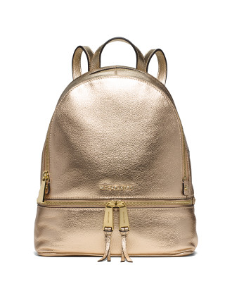 RHEA ZIP MEDIUM METALLIC BACKPACK