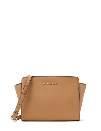SELMA MEDIUM SAFFIANO LEATHER MESSENGER