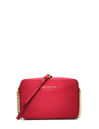 JET SET LARGE SAFFIANO LEATHER CROSSBODY