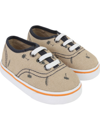 Infant Emroidered Low Laceup Trainer