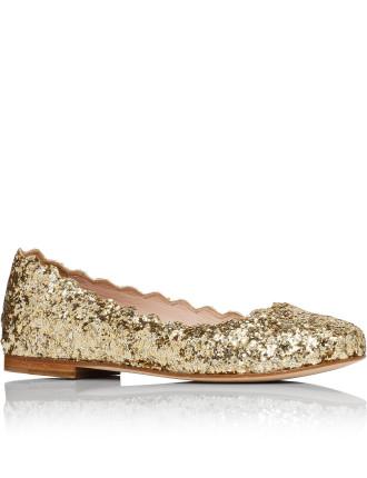 Coarse Glitter Ballerina Flat Shoes