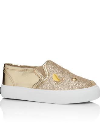 Sneakers Slip On Mouse Metallic Glitter